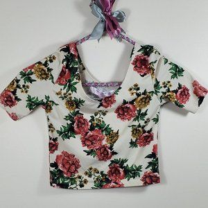 DEMANDING KIDS Floral Tee Size Small: 7/8